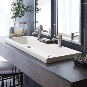 Trough bathroom sink reno St. Jacobs